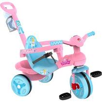 Triciclo Velotrol Passeio Disney Cinderela Rosa Bandeirante