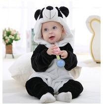 Macacão Infantil Criança Pijama Pelúcia Bicho Capuz Fantasia