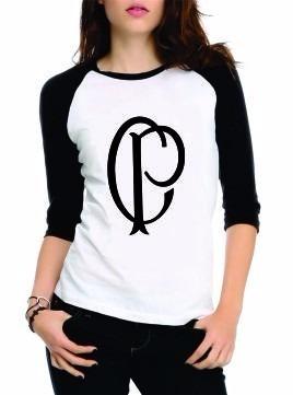 b68e186ae4561 Blusinha Blusa Camiseta Camisa Raglan Feminina Corinthians - R  39 ...