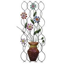 Enfeite De Ferro Jardim Vaso Para Parede Flores Decorativo