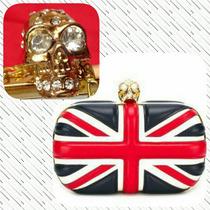 Clutch Bolsa De Mão Bandeira Inglaterra E Fecho De Caveira
