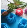 Moldes Silicón Flor Helicoidal, Jabón Vela Gelatina Cupcake