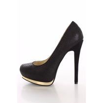Zapatos Casual Plataforma Taco Negro 6.5 36.5 37 Pedido