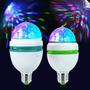 10 Unidades 3w Rgb Led Lámpara E27 Giratoria De Colores