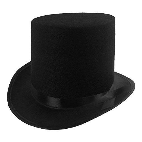Disfraz Sombrero Negro Del Traje Del Mago De La Felpa Gorra -   110.200 en Mercado  Libre 03b62329b30