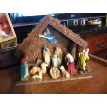 Pesebre Ingles - Nativity Set Wooden Stable 12 Figuras $750