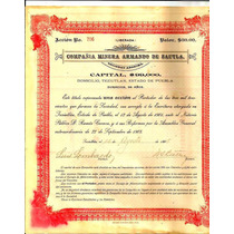 Accion Minera De Teziutlan 1905 Roja