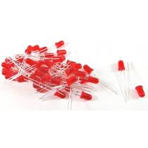 Diodo Led Vermelho Difuso 5mm De Diamêtro Embalagem C/ 20 Pç