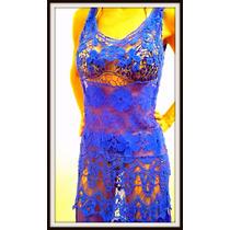 Vestido, Ideal Para La Playa Excelente Vs Colores De Encaje