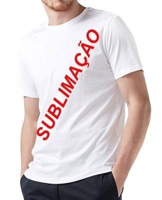 Camiseta 100% Poliéster Branca Lisa Sublimação Camisa Gg - R  10 b9dc73e260426