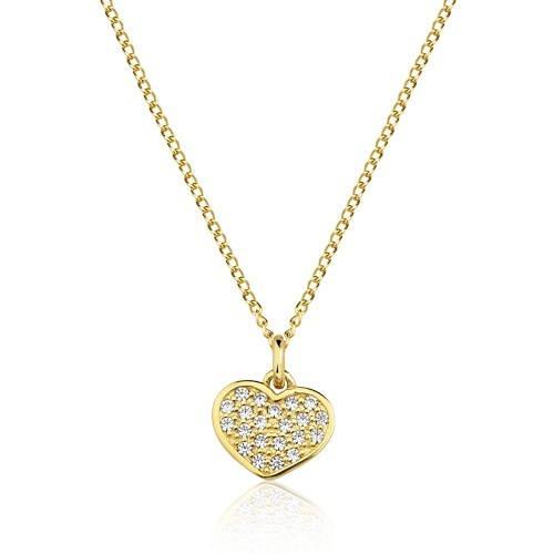 Colar Infantil Semijoia Coração Cravejado Banho Ouro 18k - R  96,00 em  Mercado Livre 42fddffdd5