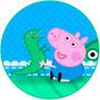 George Pig Redondo 20 Cm - Papel Arroz A4 Para Bolo