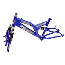 Quadro/garfo Aro 20 Full Suspension Aluminio Gw Bicicleta