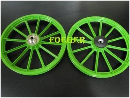5b6661f3b Par Roda Bicicleta Infantil Aro 16 Verde 870802 - R  120