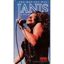 Janis Vhs The Way She Was Pelicula 1974 Editado A Vhs 1989