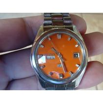 Patacão Antigo Relógio Seiko Automatico 6119 Lindo 2 Janelas