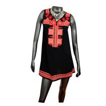 Vestido Túnica Negro Bordado Inca Nuevo - Talle Unico Nofret