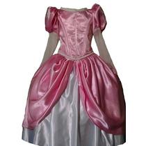 Disfraz. Vestido Rosa Princesa Ariel
