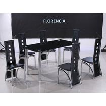 Juego De Comedor Florencia Con 6 Sillas
