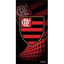 Toalha De Veludo Flamengo Licenciado 70cmx1,40m