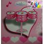 Pequena Bateria Musical Infantil Princesas Disney - 7 Peças