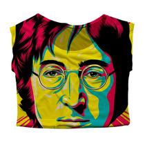 Top Cropped Mini Blusa Personalizado John Lennon