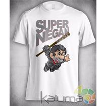 Camiseta Super Negan Walking Dead Mario 100% Poliester #3448