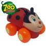 Carrinho Baby Em Vinil Zoo Garden Divertoys Joaninha
