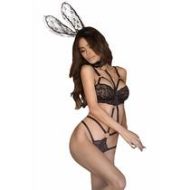 Sexy Conjunto Harness Bra Sujetador Straps Bunny Talla L