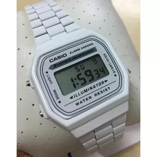 dbf973e2600 Relógio Casio Retrô Vintage Branco - R  120