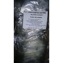 Luva Plástica Estéril Descartável - Pacote Com 100 Unidades