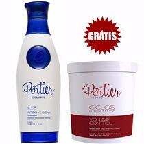 Botox Portier Máscara Btox 1kg + Shampoo Anti-resíduos Exclu