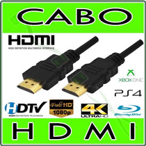 Cabo Hdmi Full Hd Para Tv, Ps3, Ps4, Xbox, Conversor Digital