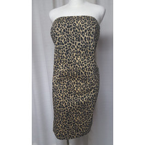 Vestido T.40, Animal Print, Stretch, Estraples, Venezia