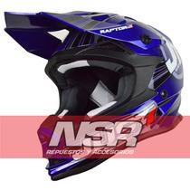 Casco Just1 J32 Raptor Motocross Cross Enduro Atv Nsr Motos
