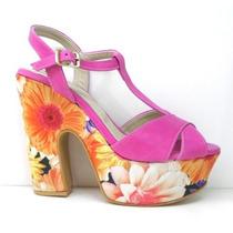 Sandalias Con Plataforma Forrada Zapatos 100% Cuero Rimini