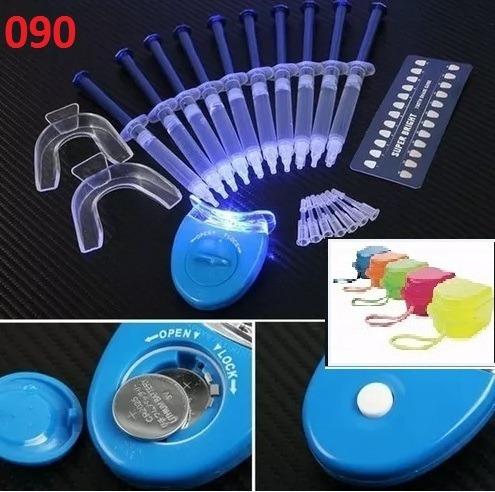 Kit C 10 Clareamento Dentario Dente Gel 44 Led Moldeira R 99 90