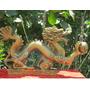 Figura Dragón Chino De Resina Dorada Shen Long Dorado 12 Cm