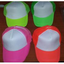 Gorra De Malla Para Personalizar Mz-60, Colores Neon