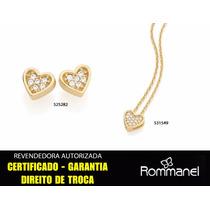 Rommanel Conjunto Gargantilha 531549 + Brinco 525282 Coração