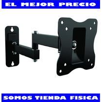 Base De Pared Tv Monitor Lcd Led Plasma 14 A 27 Brazo Movil