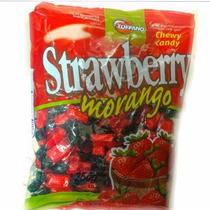 Caramelos Strawberry Morango. Bolsa X 250grs