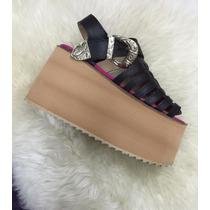 Zapato Sandalia Alta Con Plataforma Hermosa!! :)