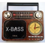 Rádio Am Fm Sw Usb Cartão Sd Mp3 Lanterna Relogio Mk136