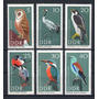 D D R 1967 Mi 1272/77** Yv 969/74 Mint Aves Pájaros Fauna