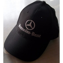 Mercedes Benz Gorras Diseño Competicion Logo Blanco