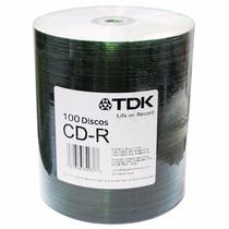 Cd-r Cd+r Virgen Tdk Printable Imprimible Bulk 100 Grabable