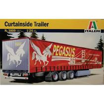 Italeri Remolque 3 Ejes Curtainside Trailer 1/24 Armar Pinta