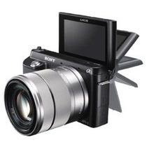 Câmera Digital Sony Nex-f3 Cinza Com 16.1mp, Lcd Móvel 3.0