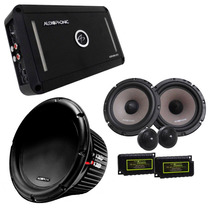 Kit Pro Audiophonic C/ Módulo + Sub 10 Pol. + 2 Vias 6 Pol.